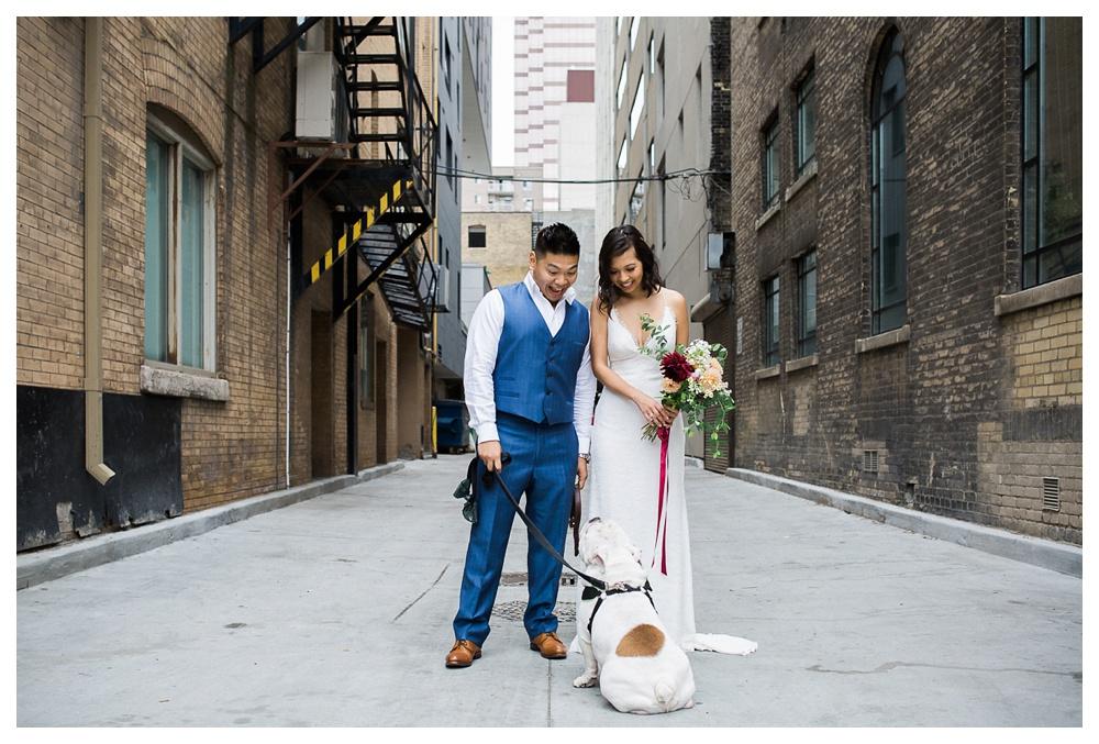 31-DanijelaWeddings-Toronto-wedding-GeorgeRestaurant-couple-dogsinweddings-dog-pet.JPG