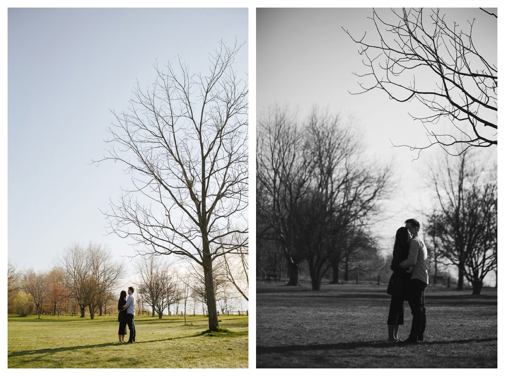 Capture the memory of this engagement photo shoot under the trees of Scarborough Bluffs and look forward to the wedding day.