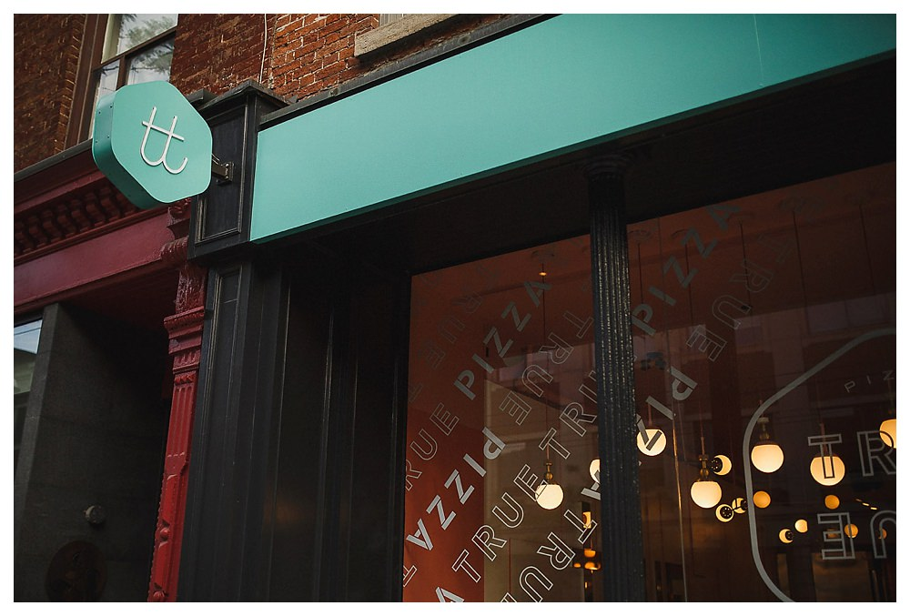 True True Pizza in Distillery District is the place for love on today's engagement photos.
