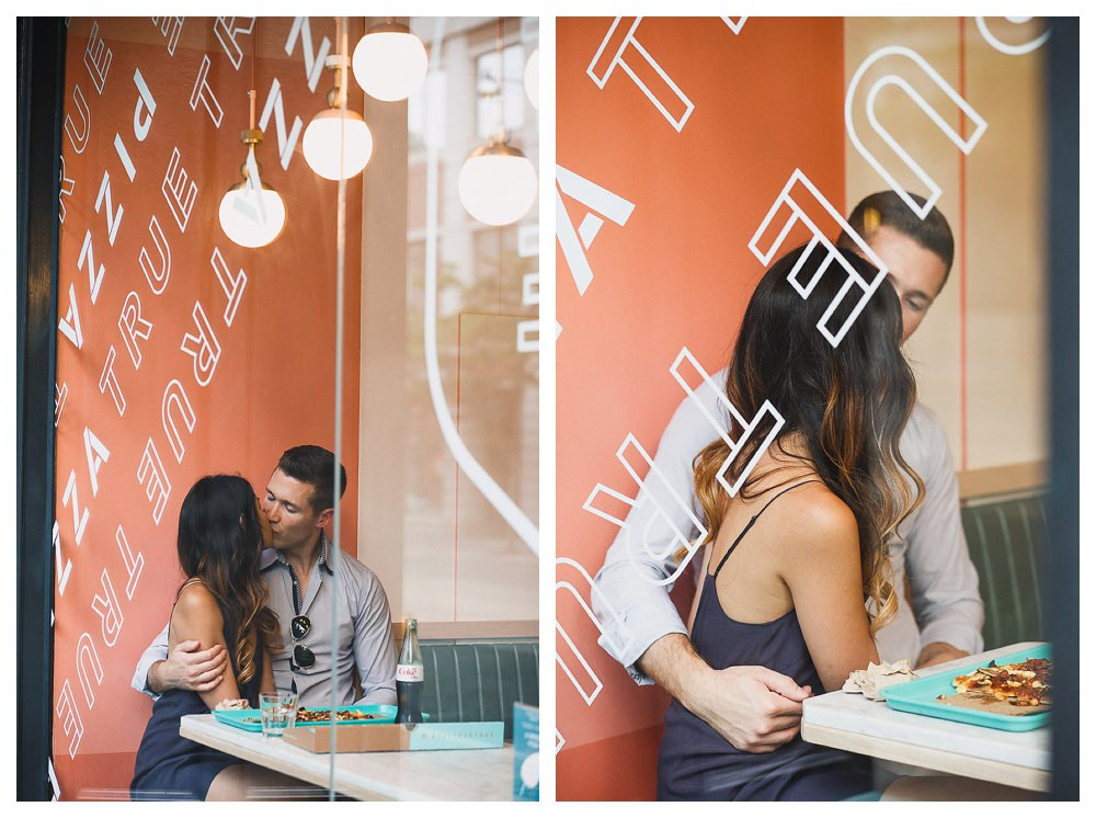 Look through the window of True True Pizza and you will see love reflected.
