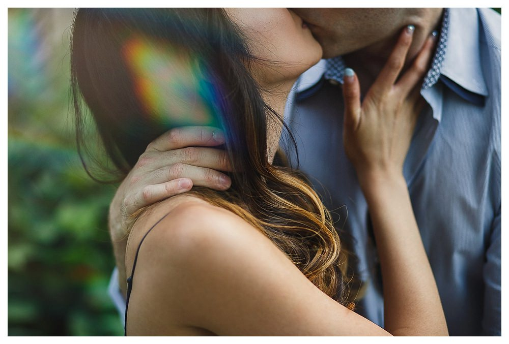 The love captured on their engagement photos is reminiscent of their dates.