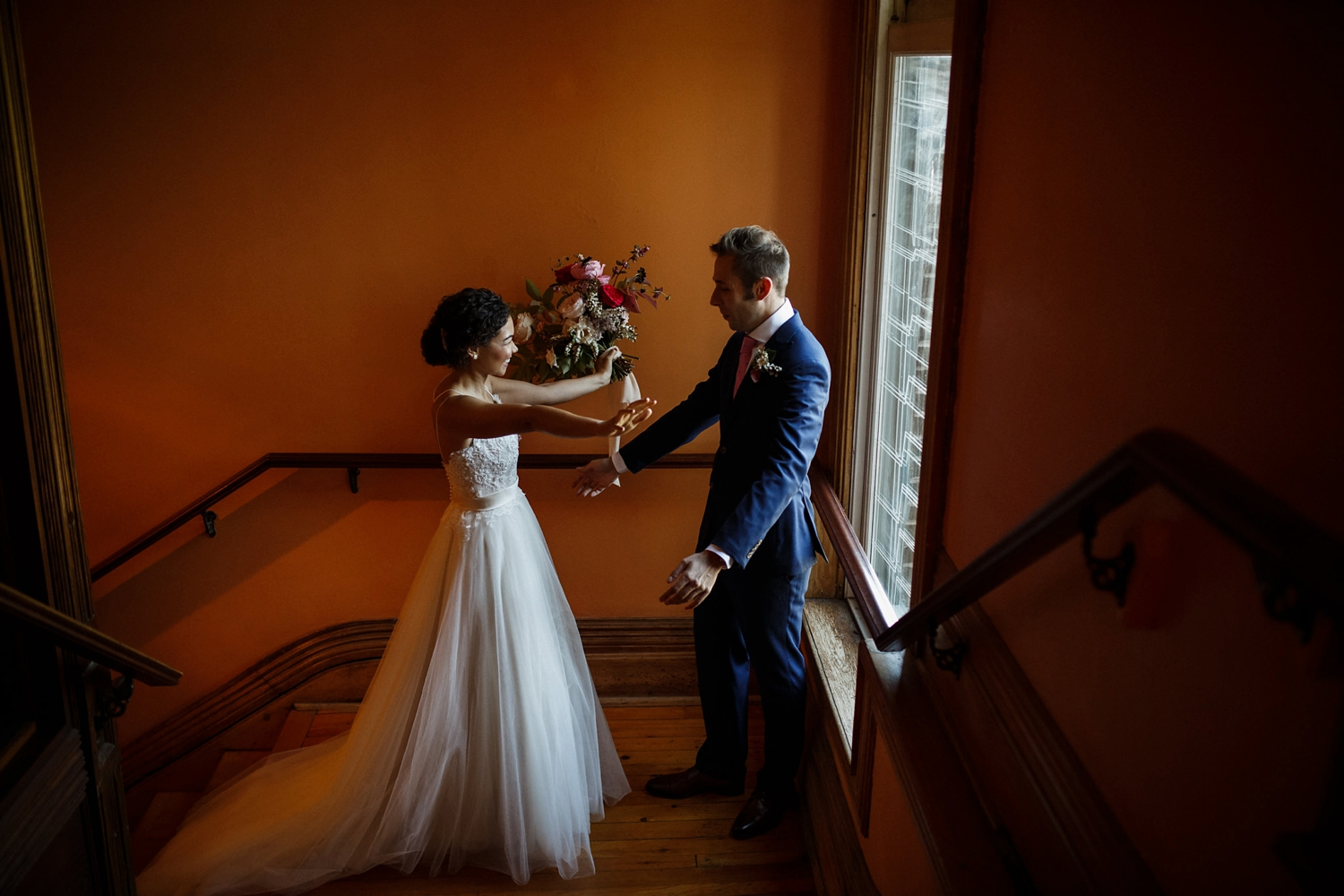 Couples first look at Gladstone Hotel Toronto.