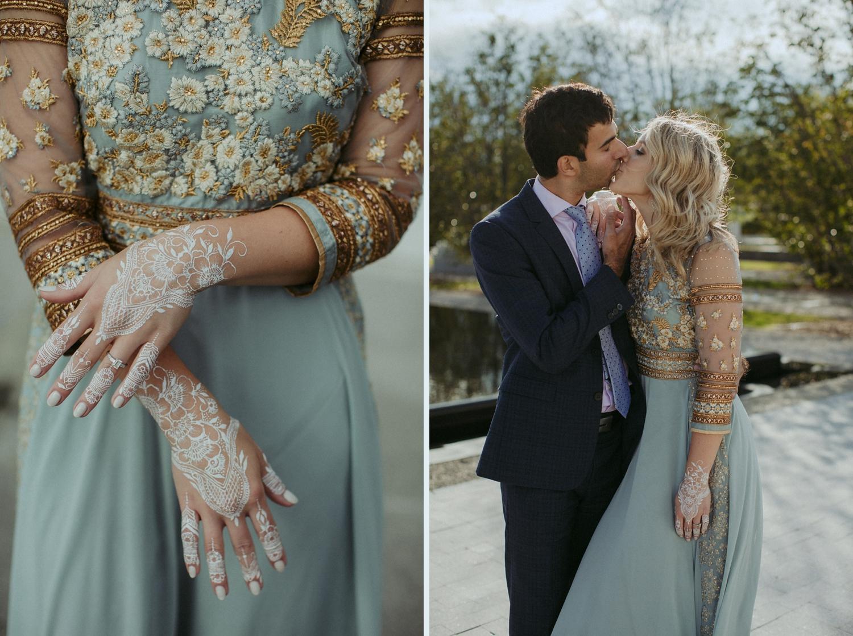 Engagement photos at Aga Khan Museum in Toronto.