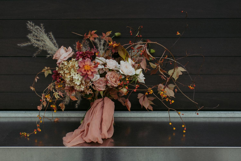 White Oak Flower Co bridal bouquet flowers.
