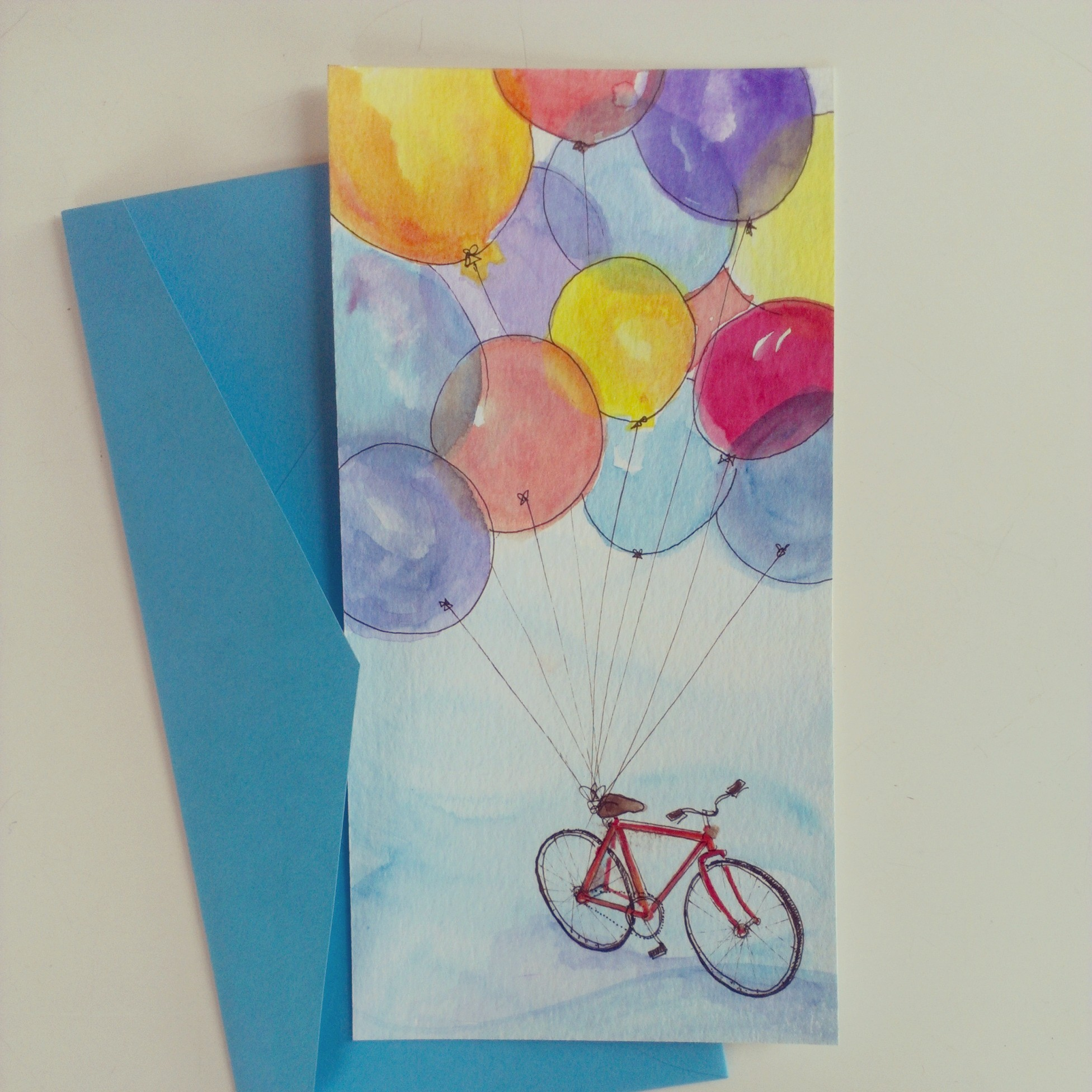 Bicycle and Balloons