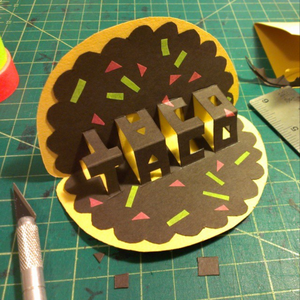 Taco Pop-Up Card for Taco Pop-Up Restaurant