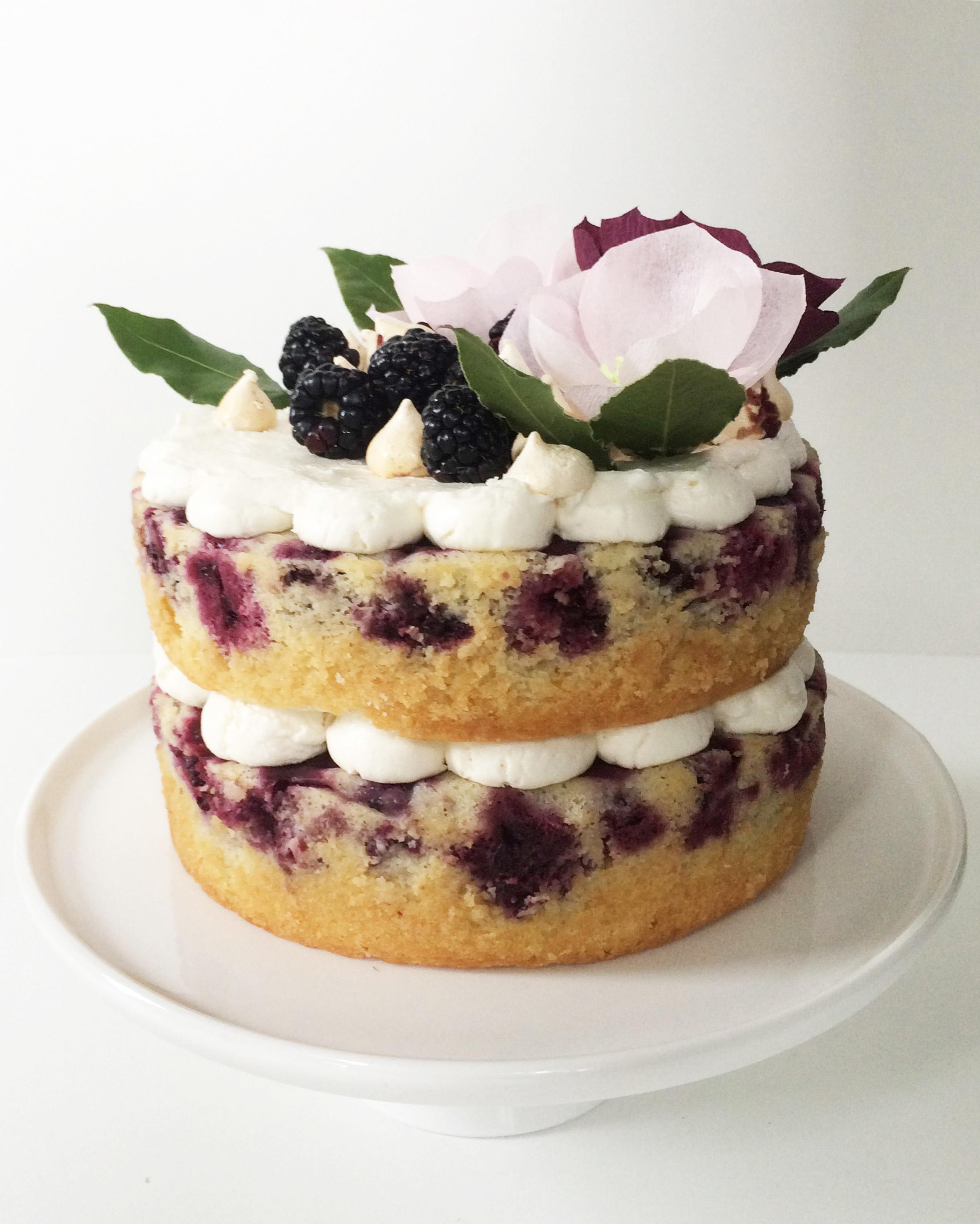 Blackberry Cake with Lavender Buttercream