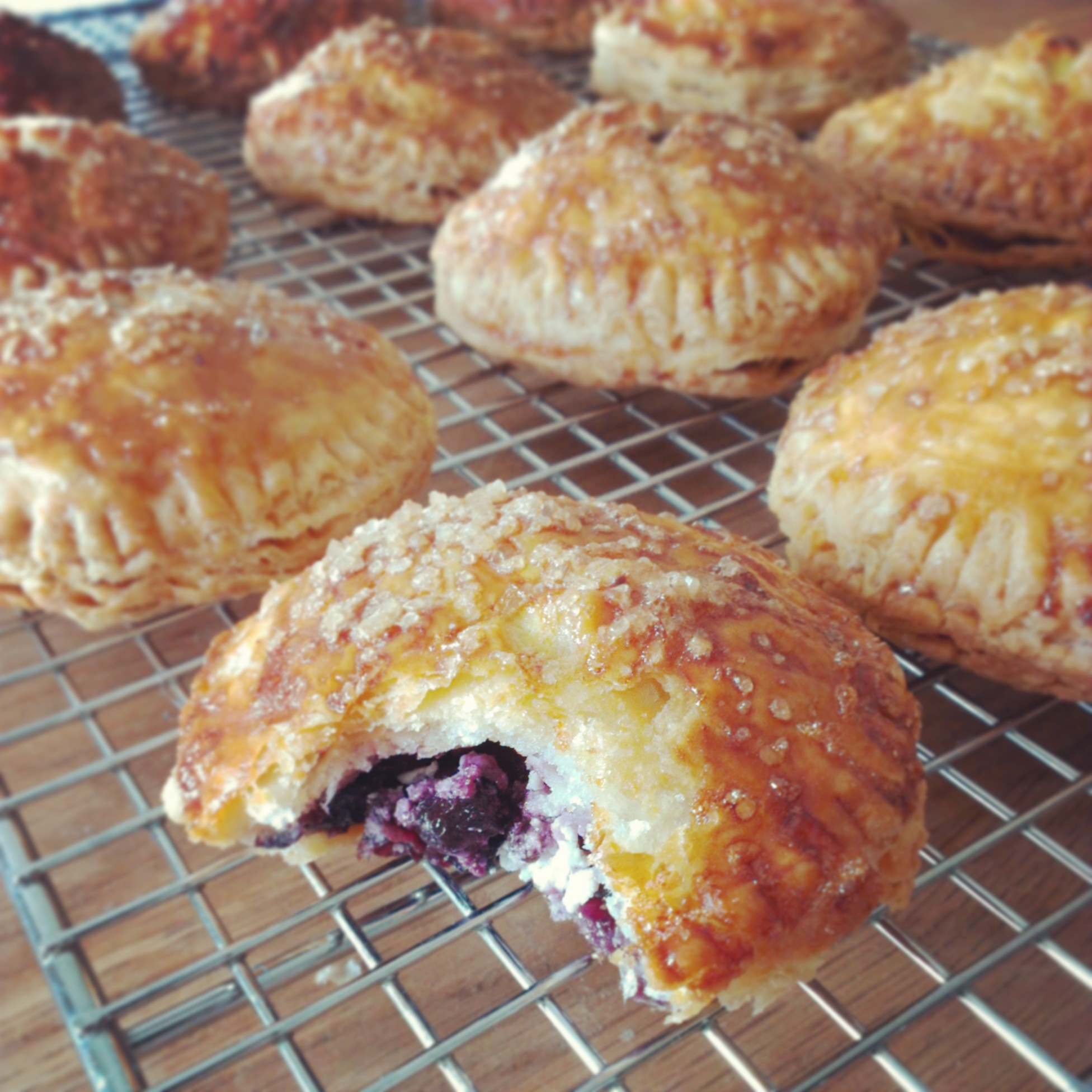Blueberry & Goat Cheese Hand Pies