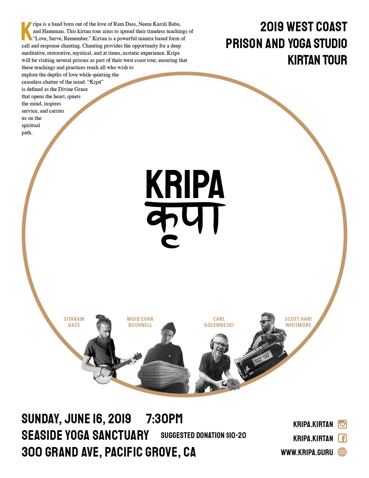 Kripa Band Tour Flyer
