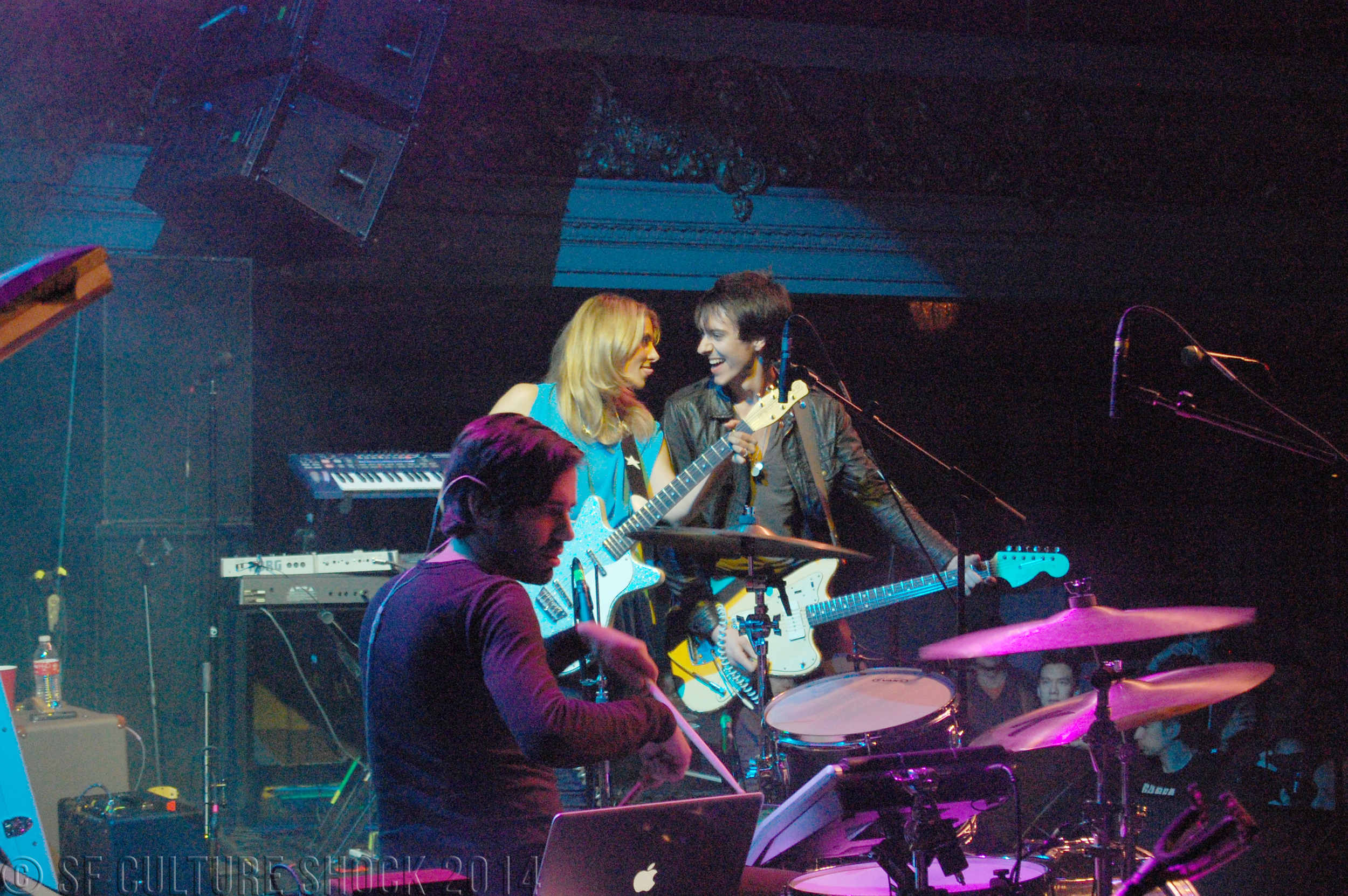 Blondfire performing at The Regency Ballroom