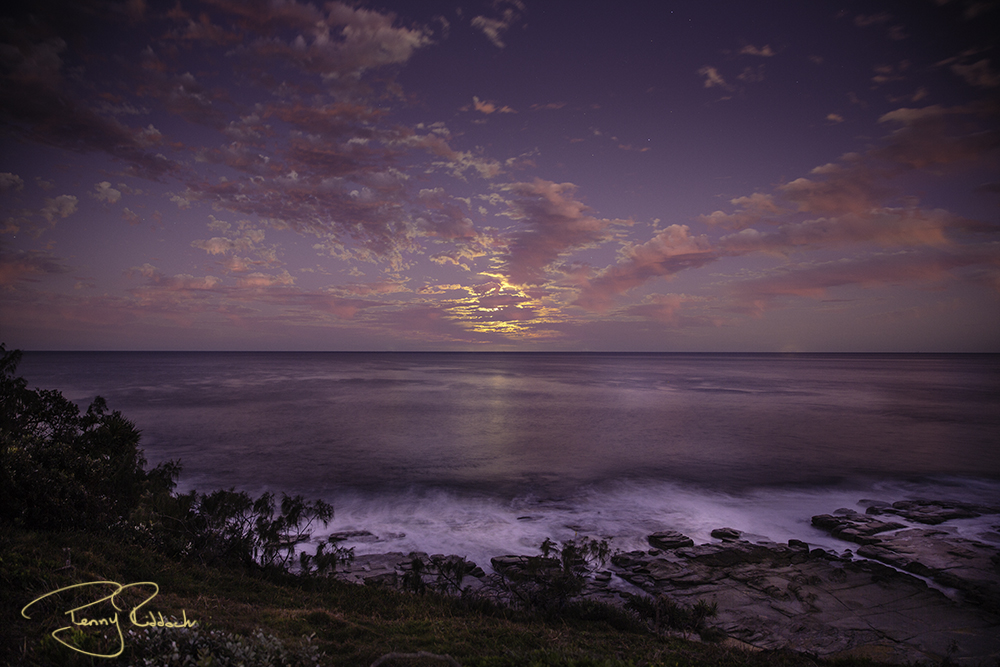 A Point Cartright moon rise Penny Riddoch.jpg