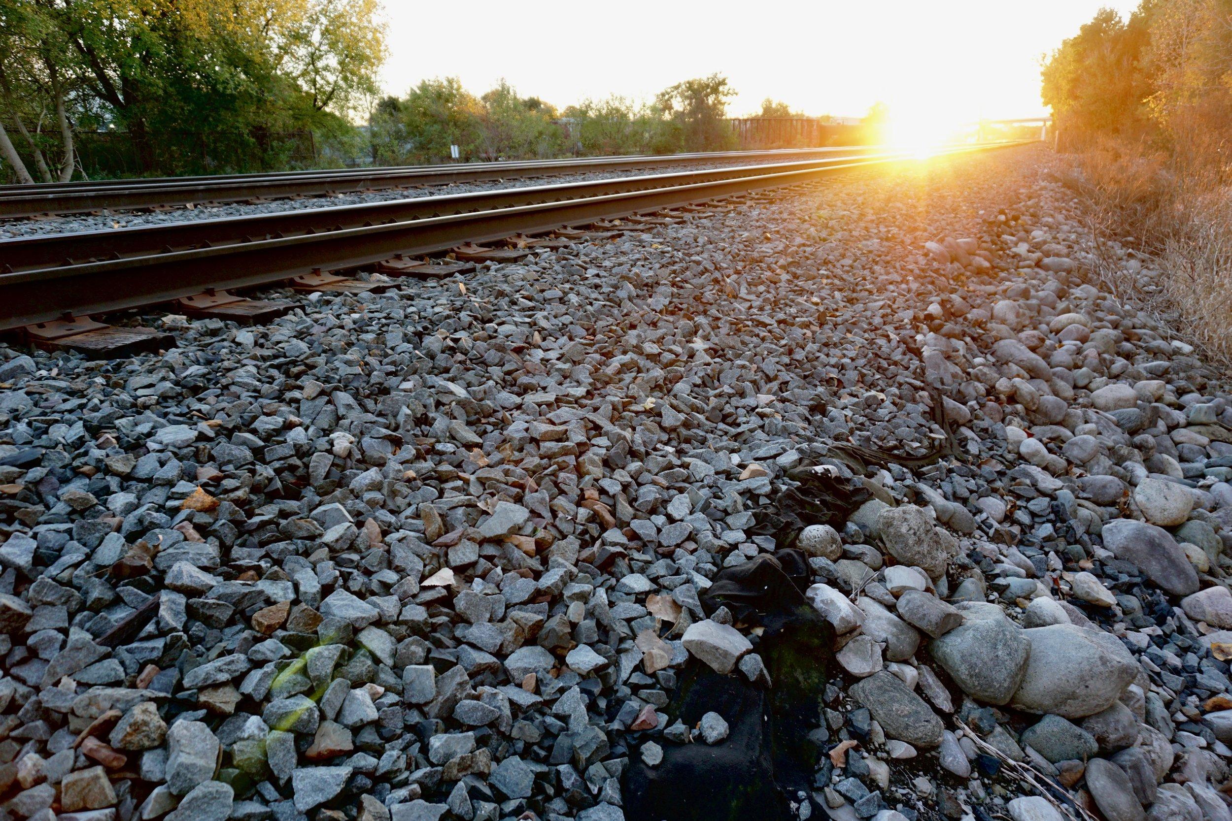 Sunset on the tracks, London, Ontario