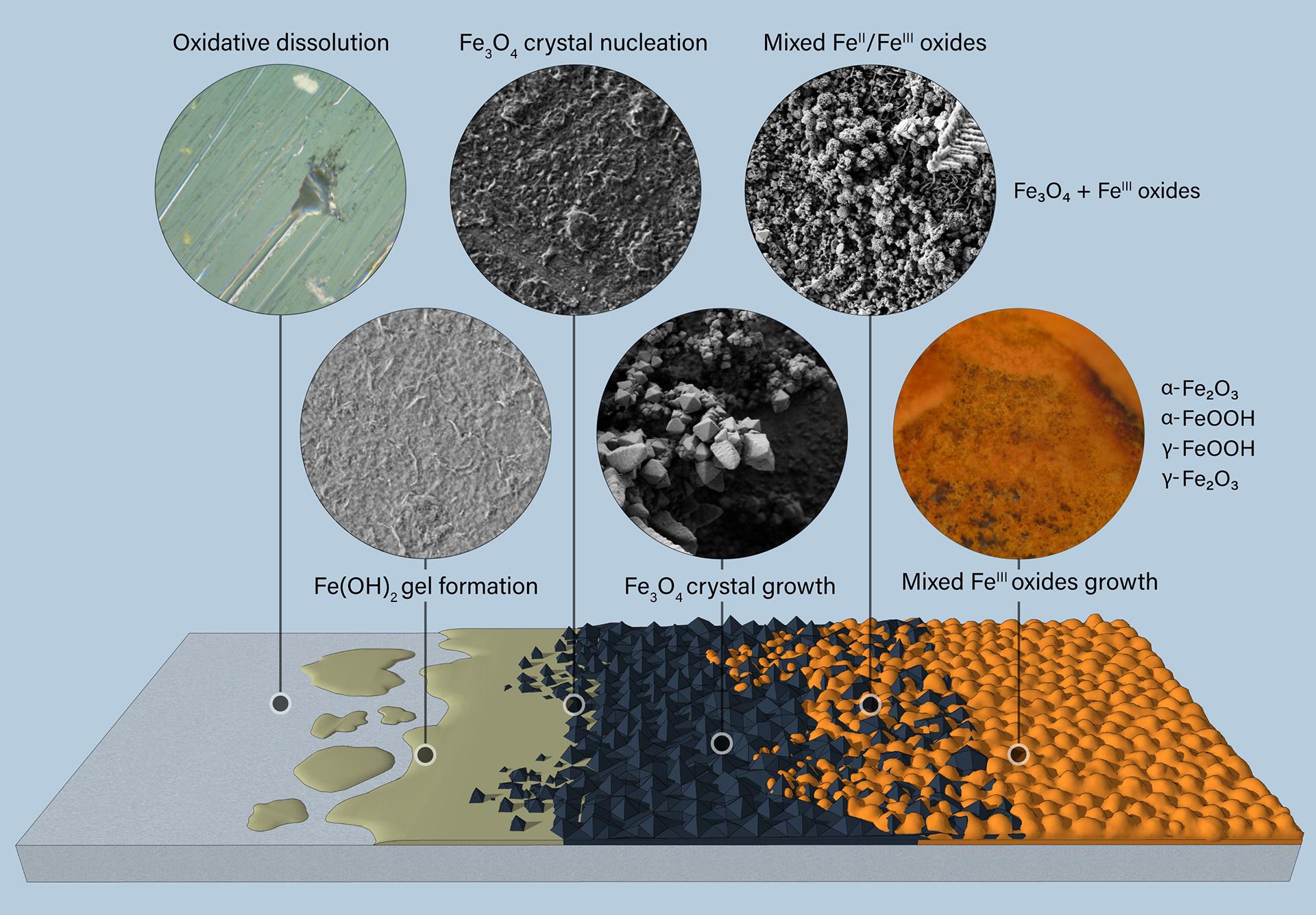 Carbon steel corrosion diagram