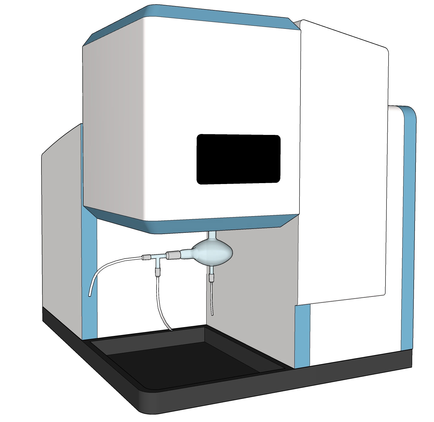 Representation of an Inductively Coupled Plasma Optical Emission Spectroscopy (ICP-OES) instrument
