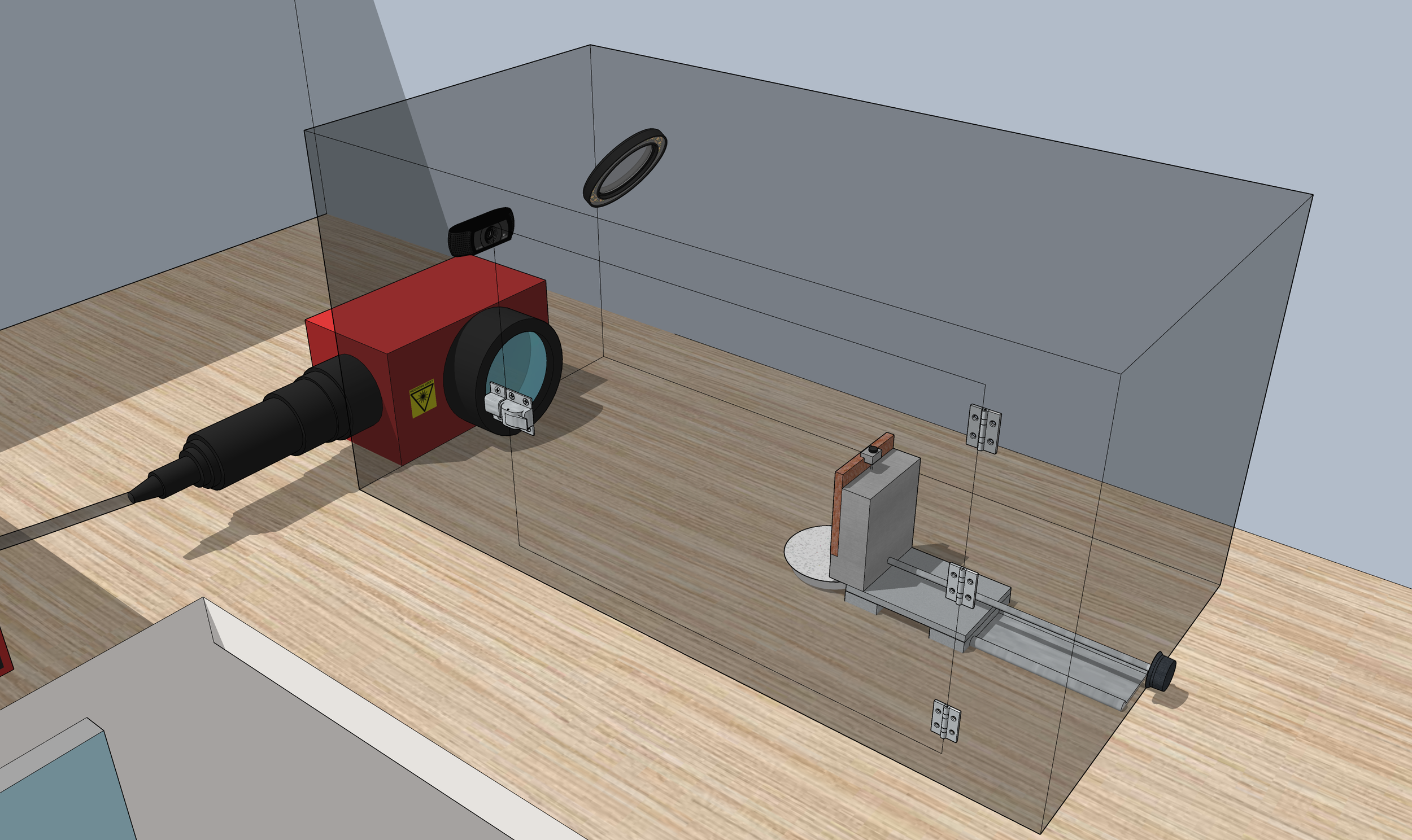 Conceptual design for a laser ablation set-up