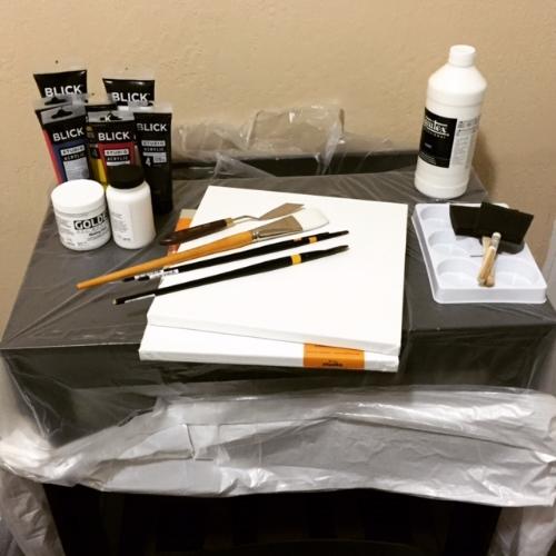 My epic painting studio on California St, San Francisco - Feb 21st, 2015.