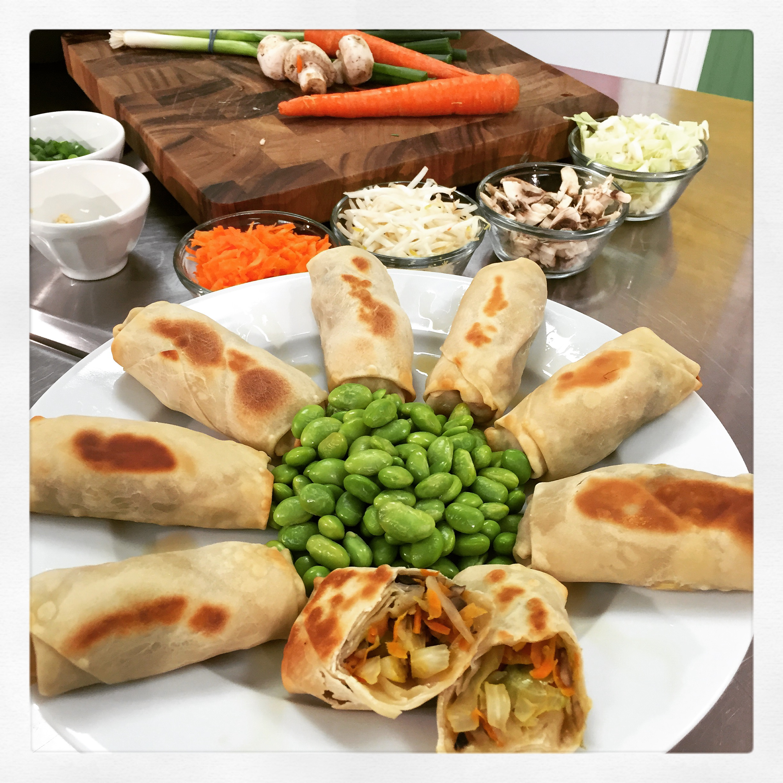 Eat more veggies- Kid friendly delicious Spring Rolls- ChefShayna.com