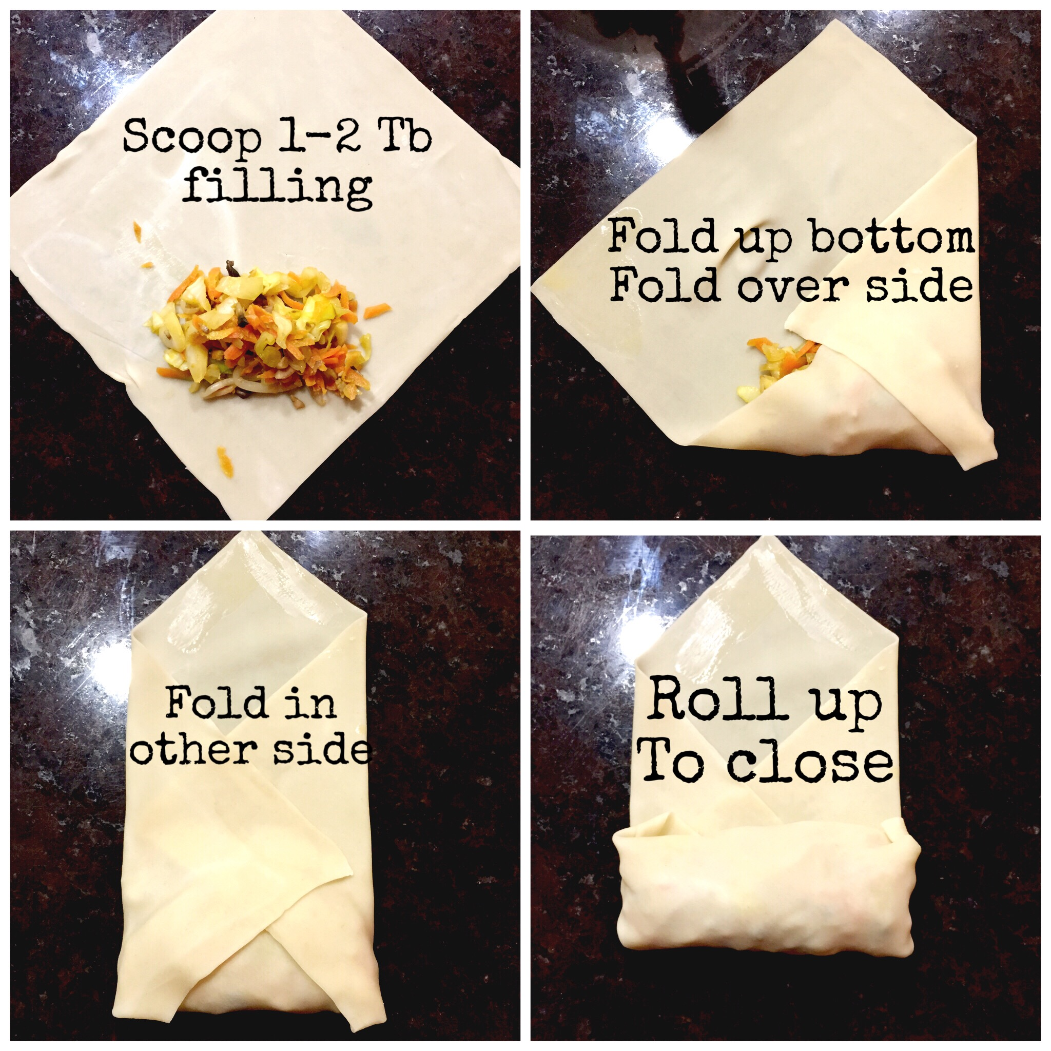 How to Roll a Spring Roll- ChefShayna.com