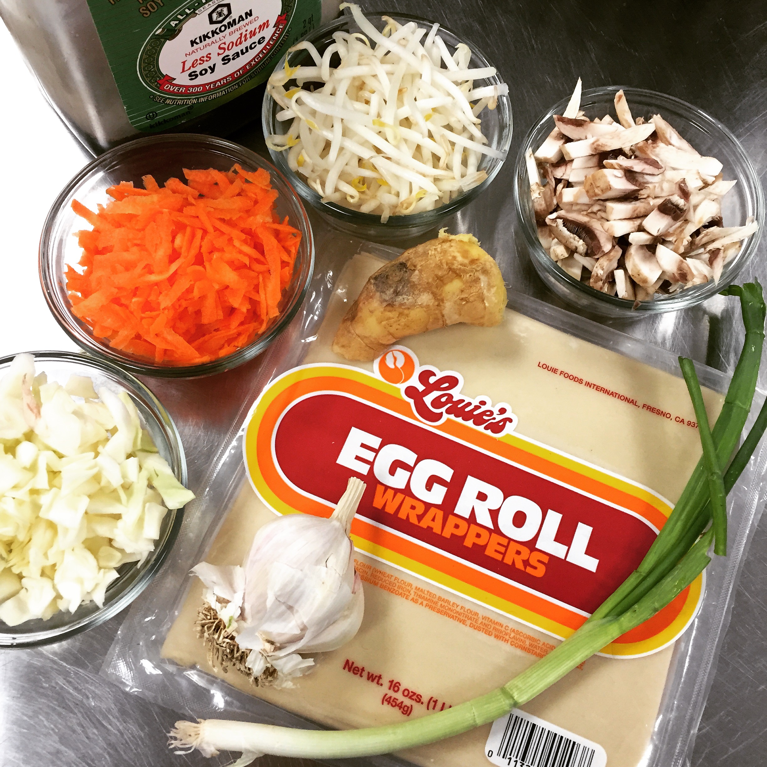 Make veggie spring rolls with your kids! It's fun, easy, & delicious. Step by step guide on www.ChefShayna.com