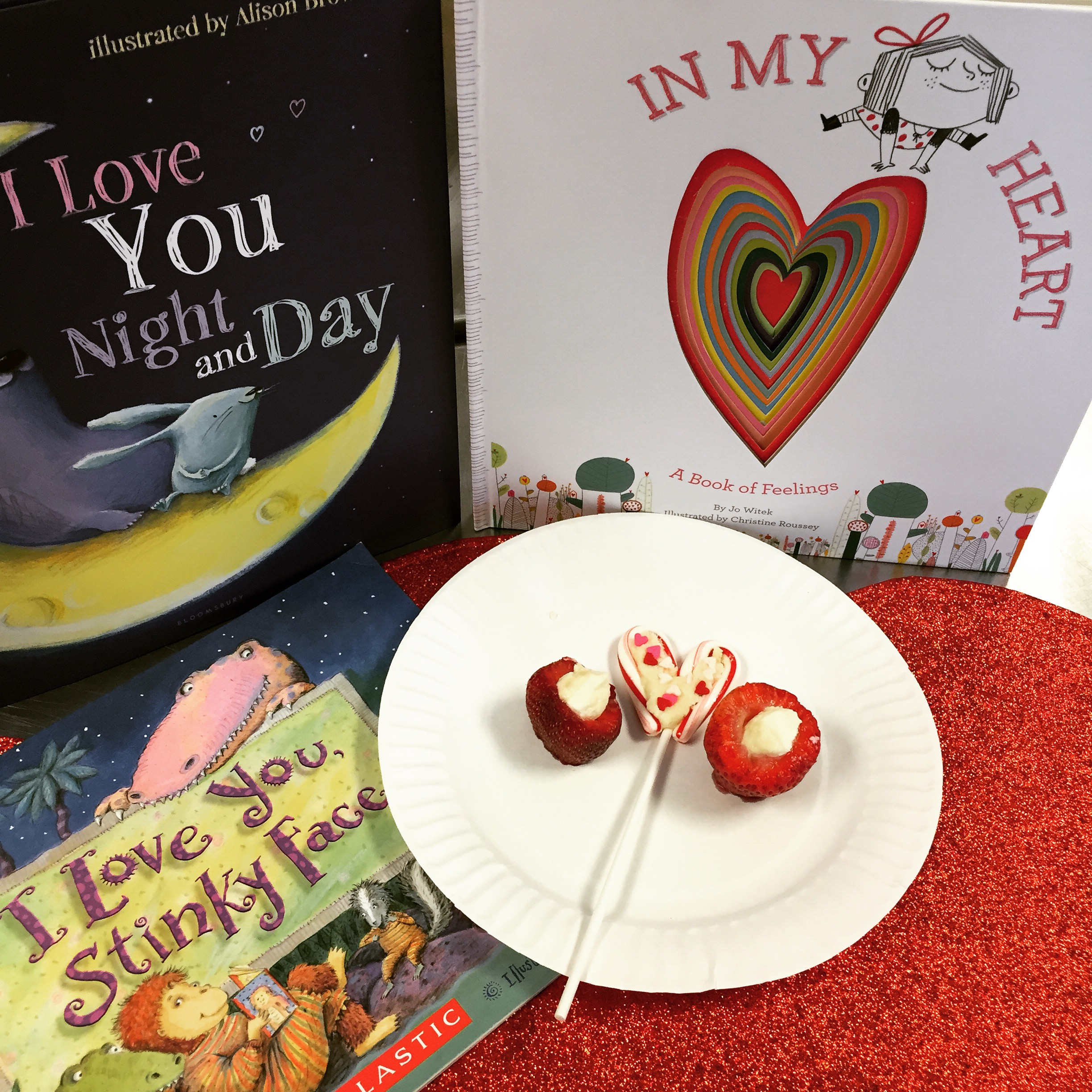 Valentine's Day Books to read with your little ones and a great snack to make too! ChefShayna.com