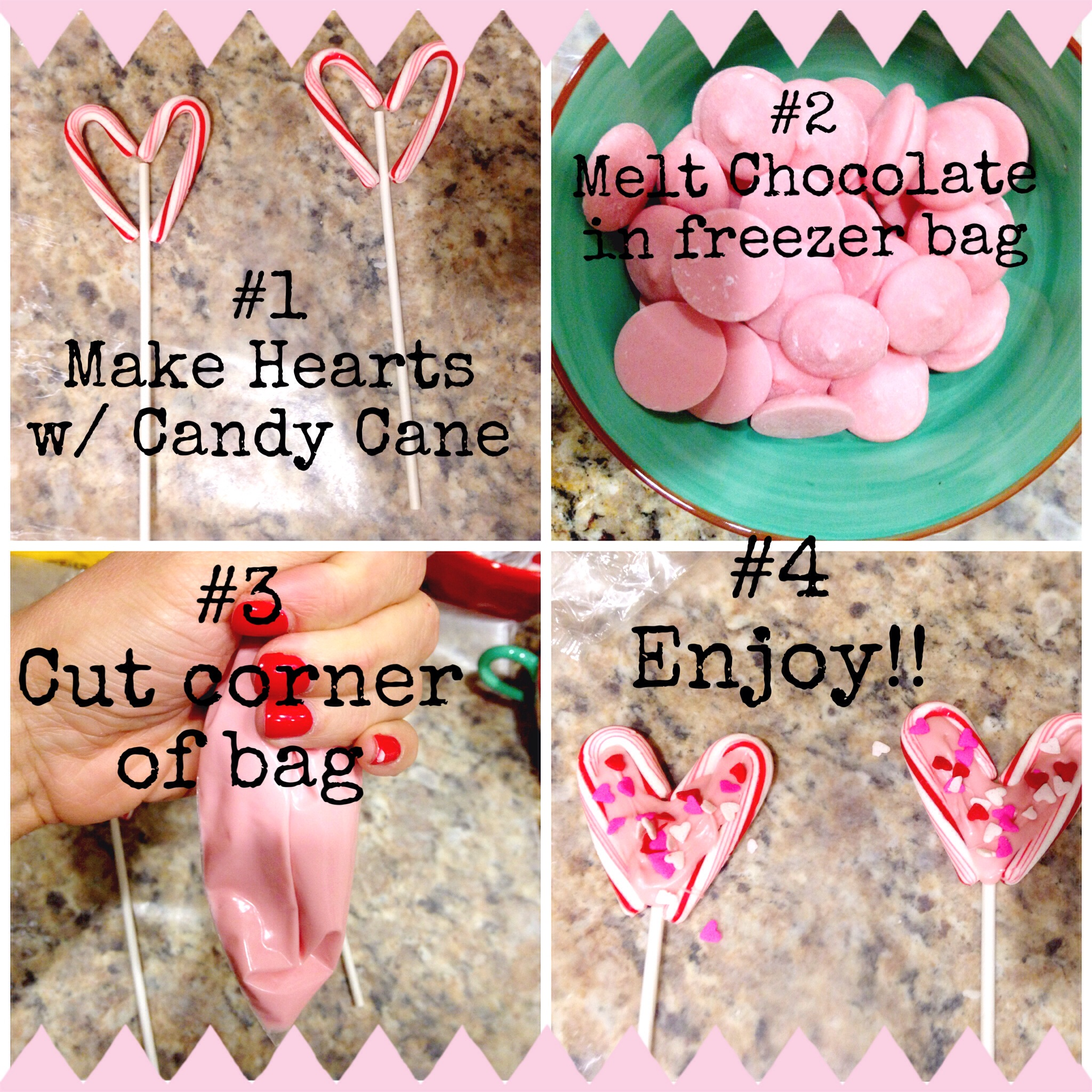Make your own Valentine's Day Lollipops! Tutorial on ChefShayna.com