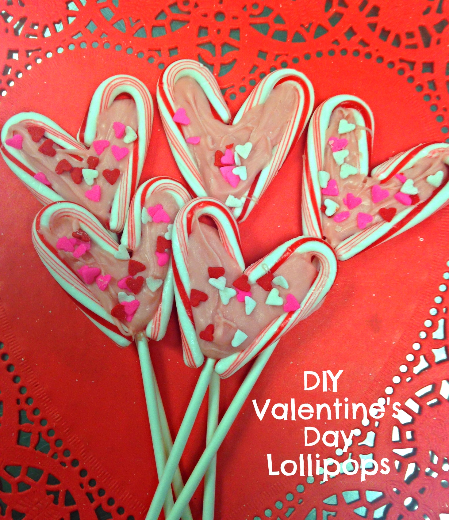 Homemade Valentine's Day Lollipops to make with your kiddos. Tutorial on ChefShayna.com