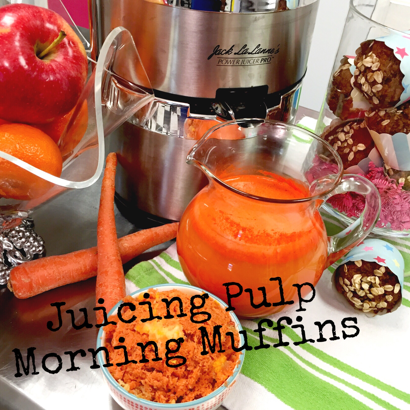 Morning Muffins using discarded pulp from Juicing. Great source of fiber & wonderful way to start your day! www.ChefShayna.com