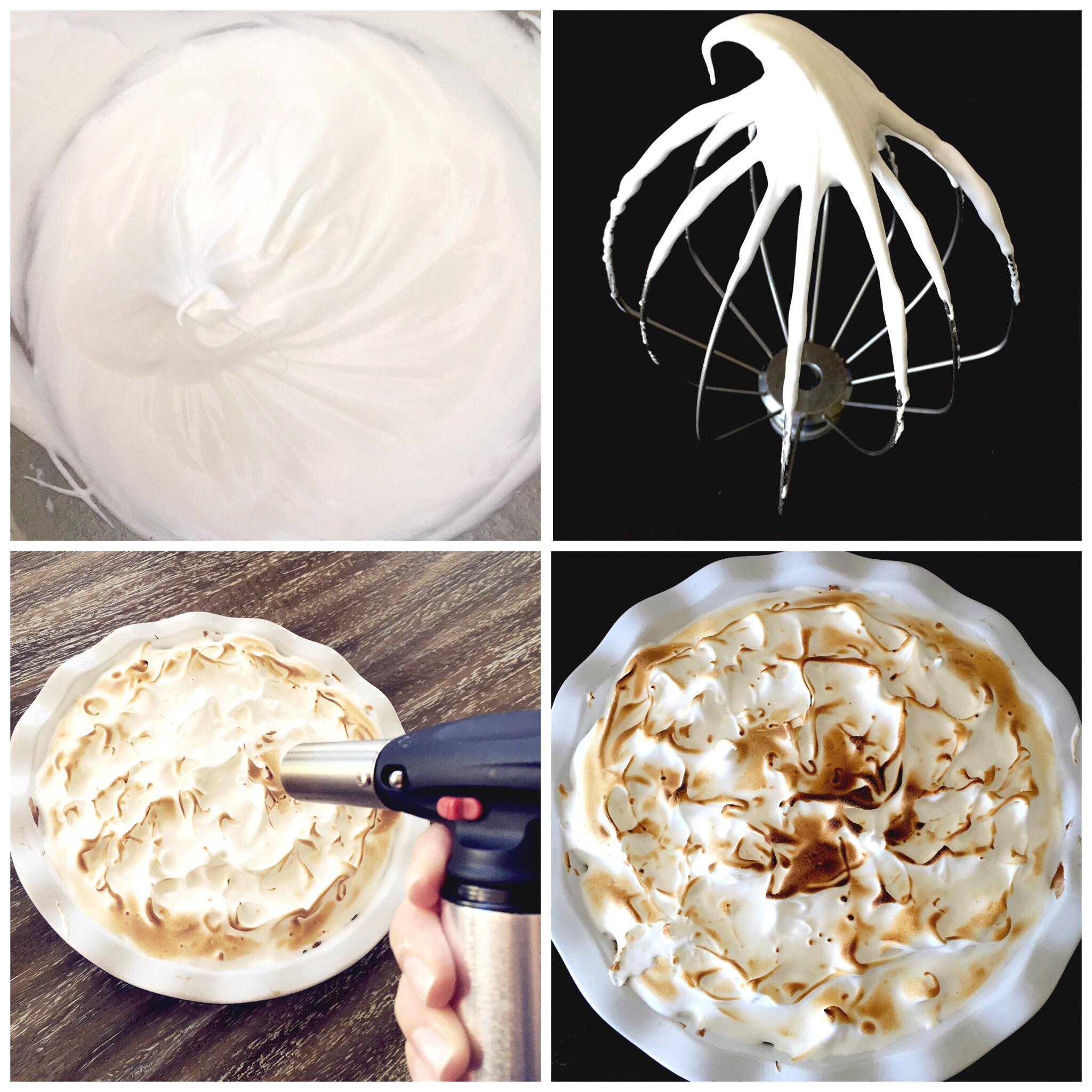 Marshmallow Meringue for S'more Pie- ChefShayna.com