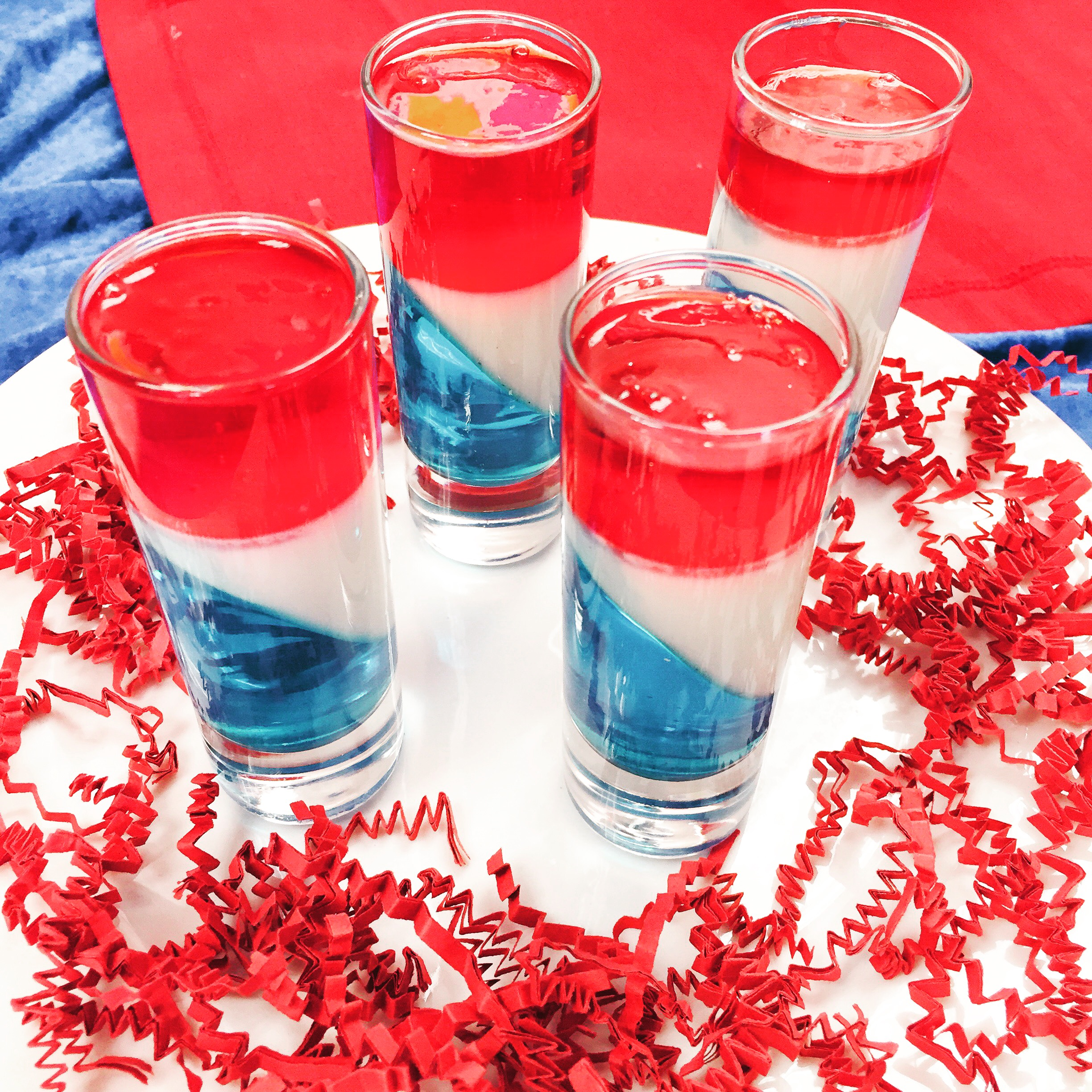 Patriotic JELL-O Shot for 4th of July- www.ChefShayna.com