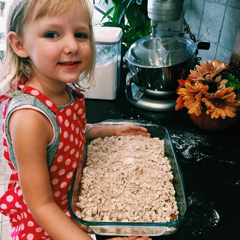 Baking with kids, Fall treats: Williams-Sonoma Pumpkin Bars- www.chefShayna.com