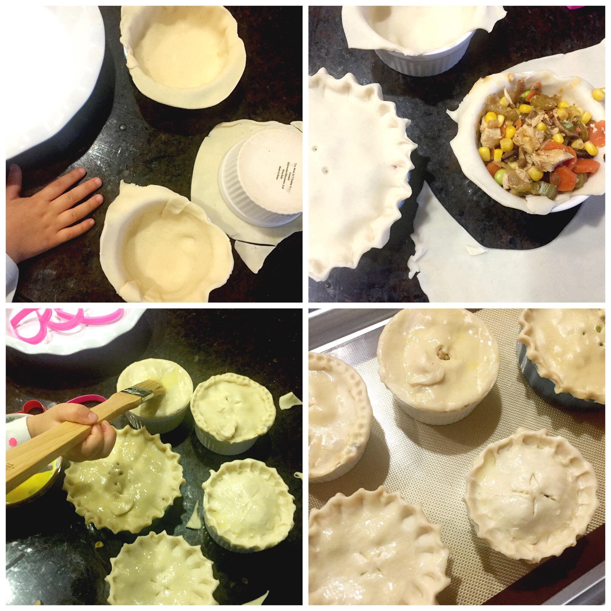 Making Chicken Pot Pie with kids