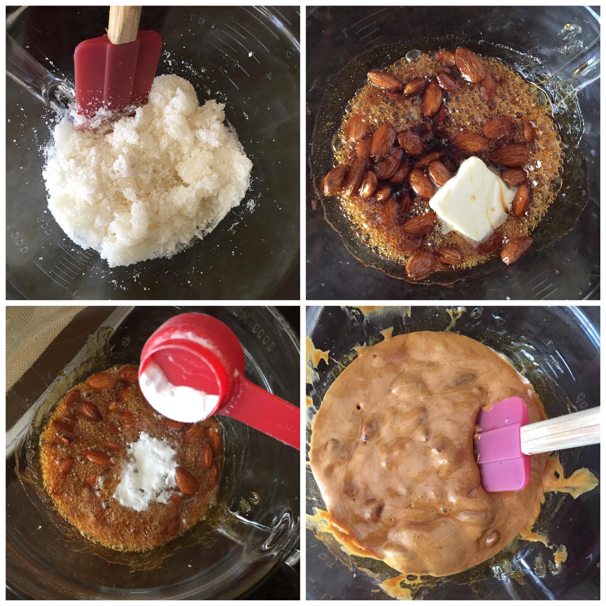 Easy microwave Almond Brittle- www.ChefShayna.com