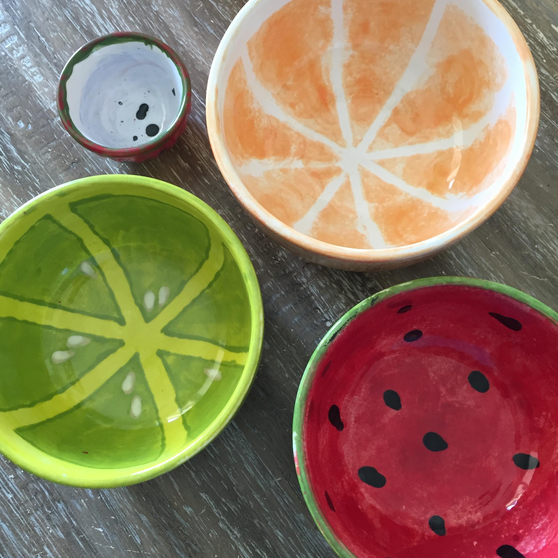 May 2015: Watermelon Bowl, October 2015: Orange Bowl, July 2016: Lime & Strawberry Bowl