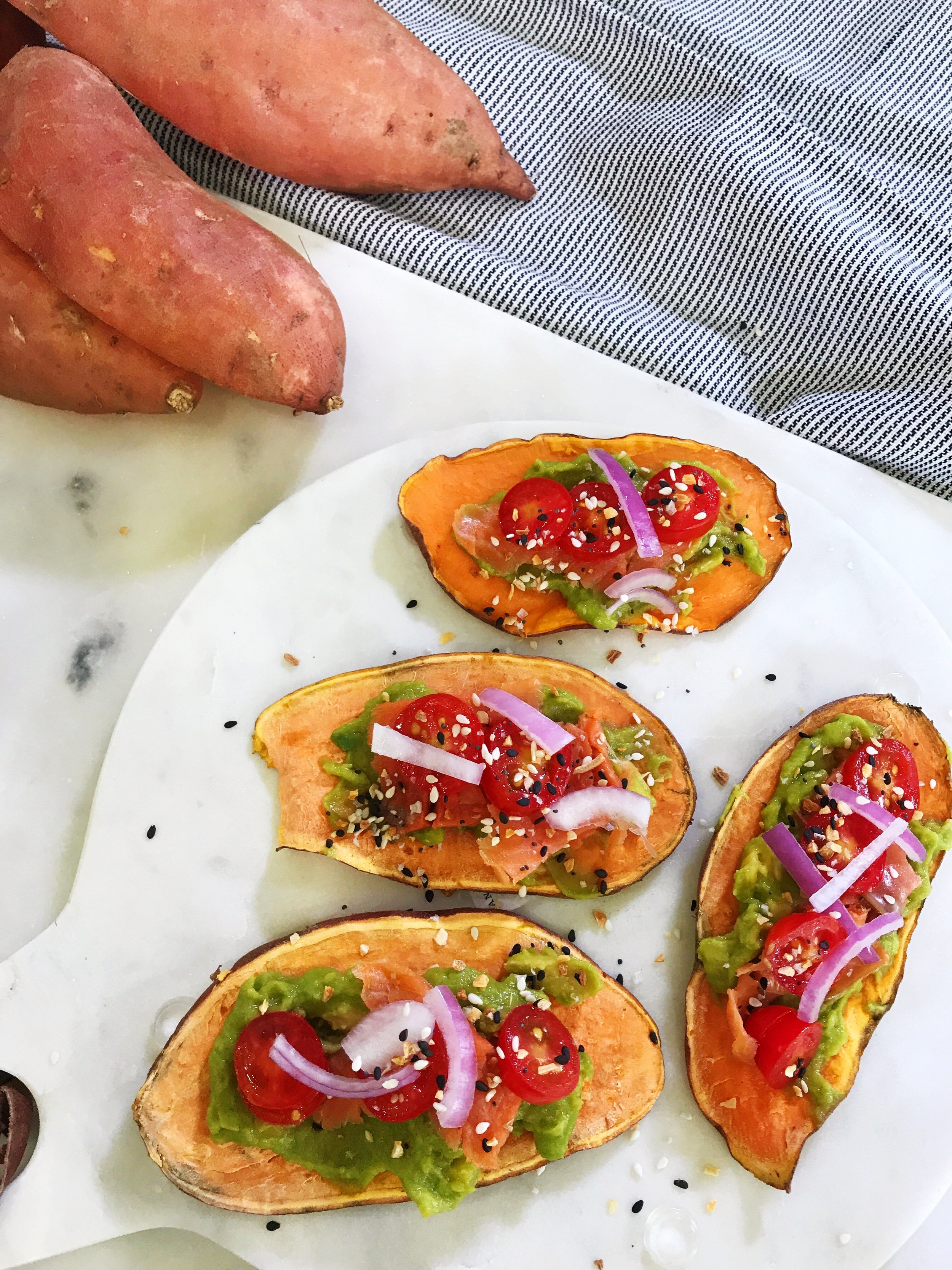 Sweet Potato Bagels - www.ChefShayna.com