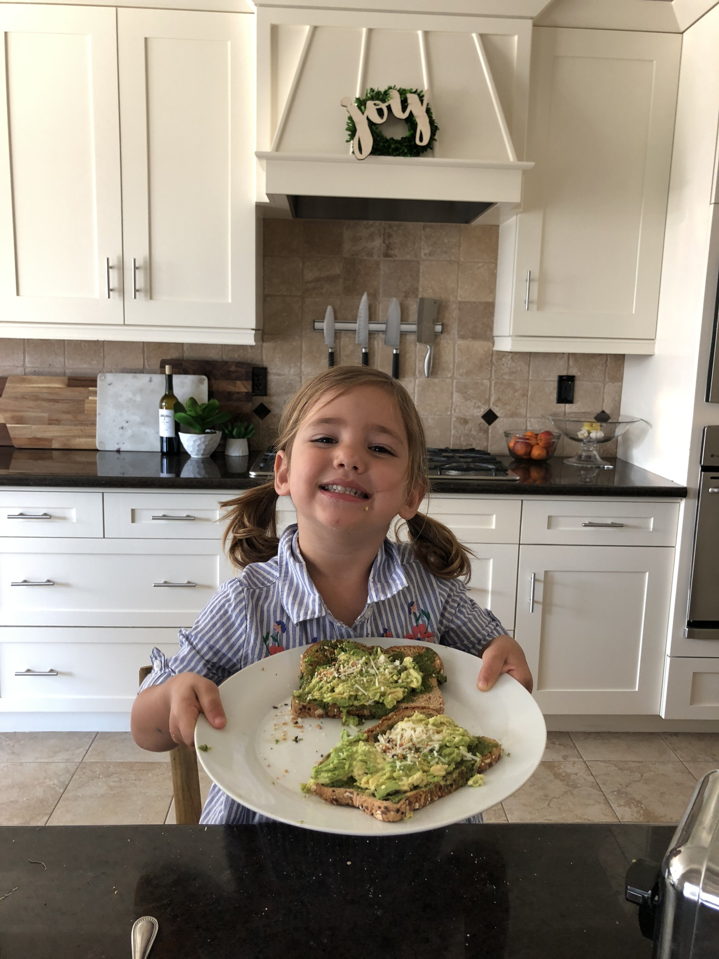 Let kids take over the kitchen and make avocado toast. www.ChefShayna.com