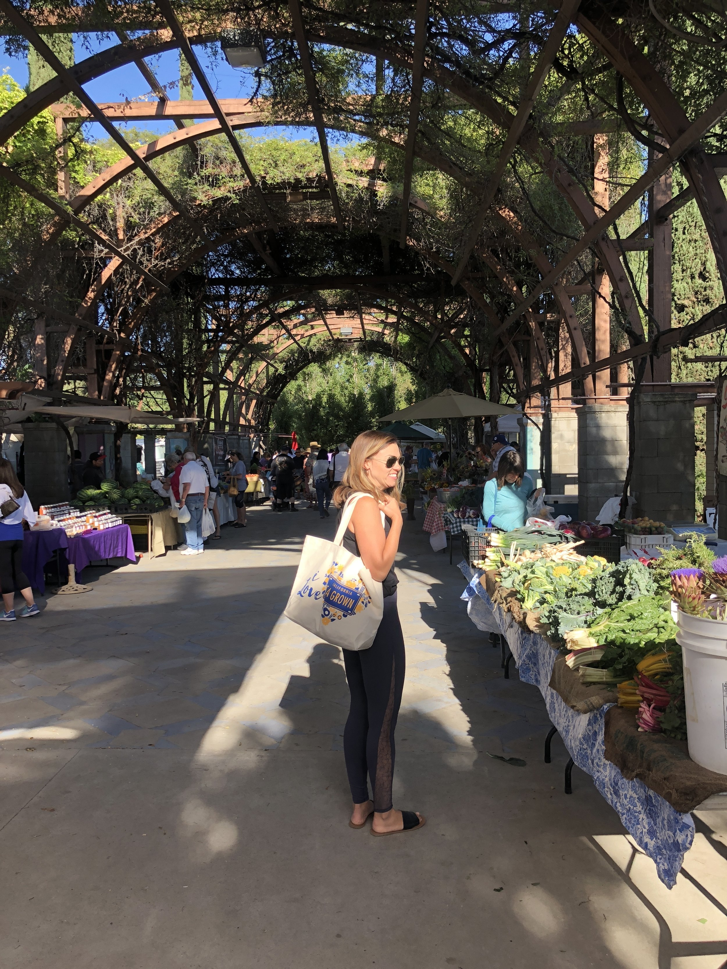 The hubby and I had a kid free morning so we topped at the market on our way to Yoga class.