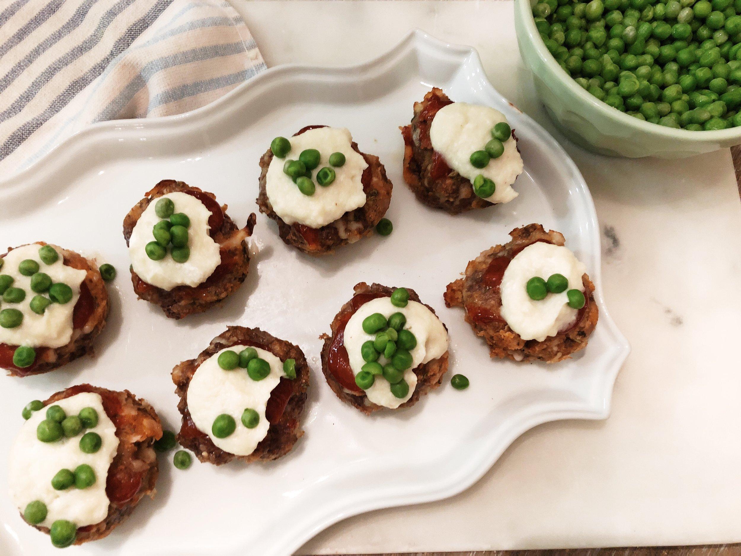 Cauliflower Craze: whipped cauliflower frosting for meatloaf cupcake. recipe on www.ChefShayna.com