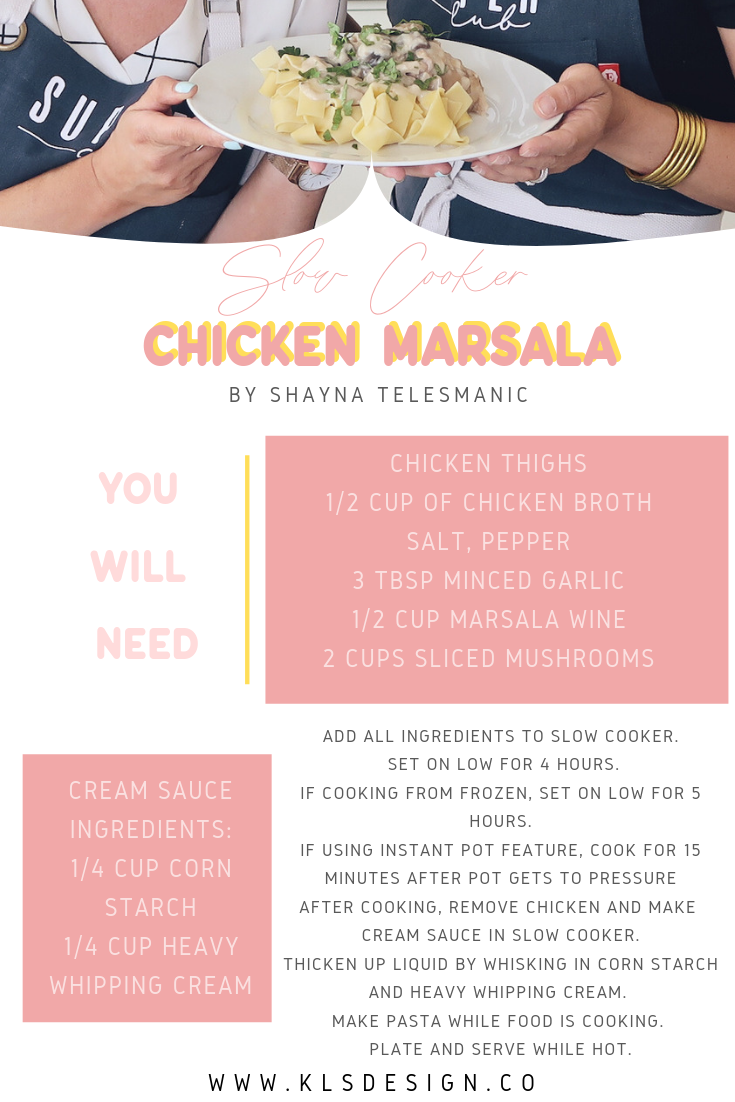 Slow Cooker Chicken Marsala Recipe | Monday Mom Meals with KLSD | Chef Shayna Fresno.png