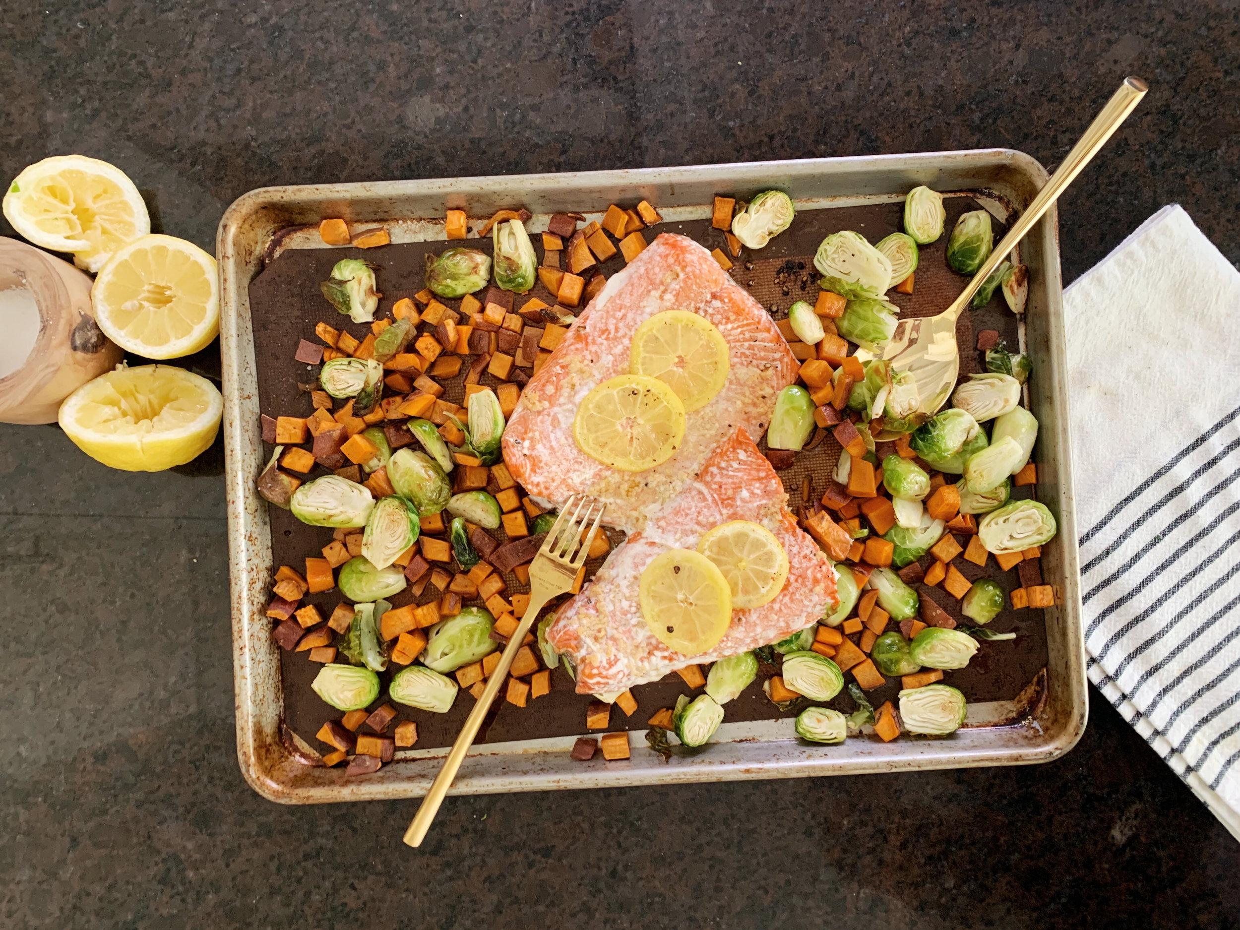 One Pan Salmon- www.ChefShayna.com