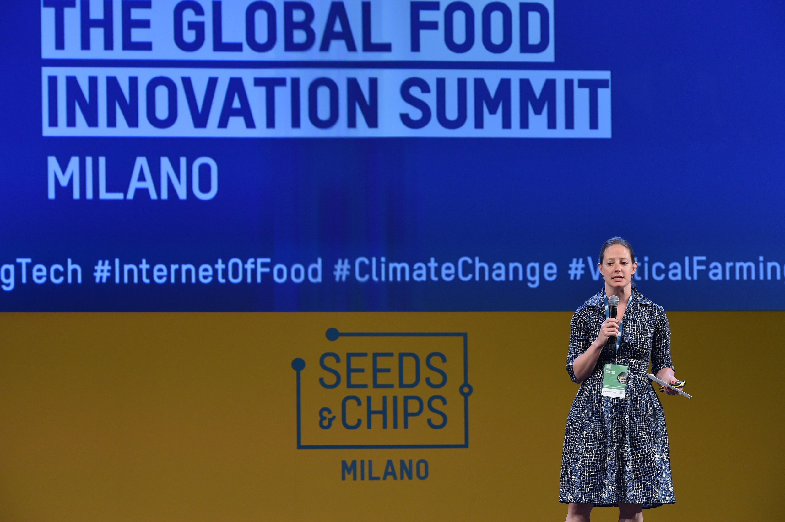 Serena Hollmeyer Taylor, CSO, presenting at the Special Conference: Inspire Power: Food Security for the Developing Countries.