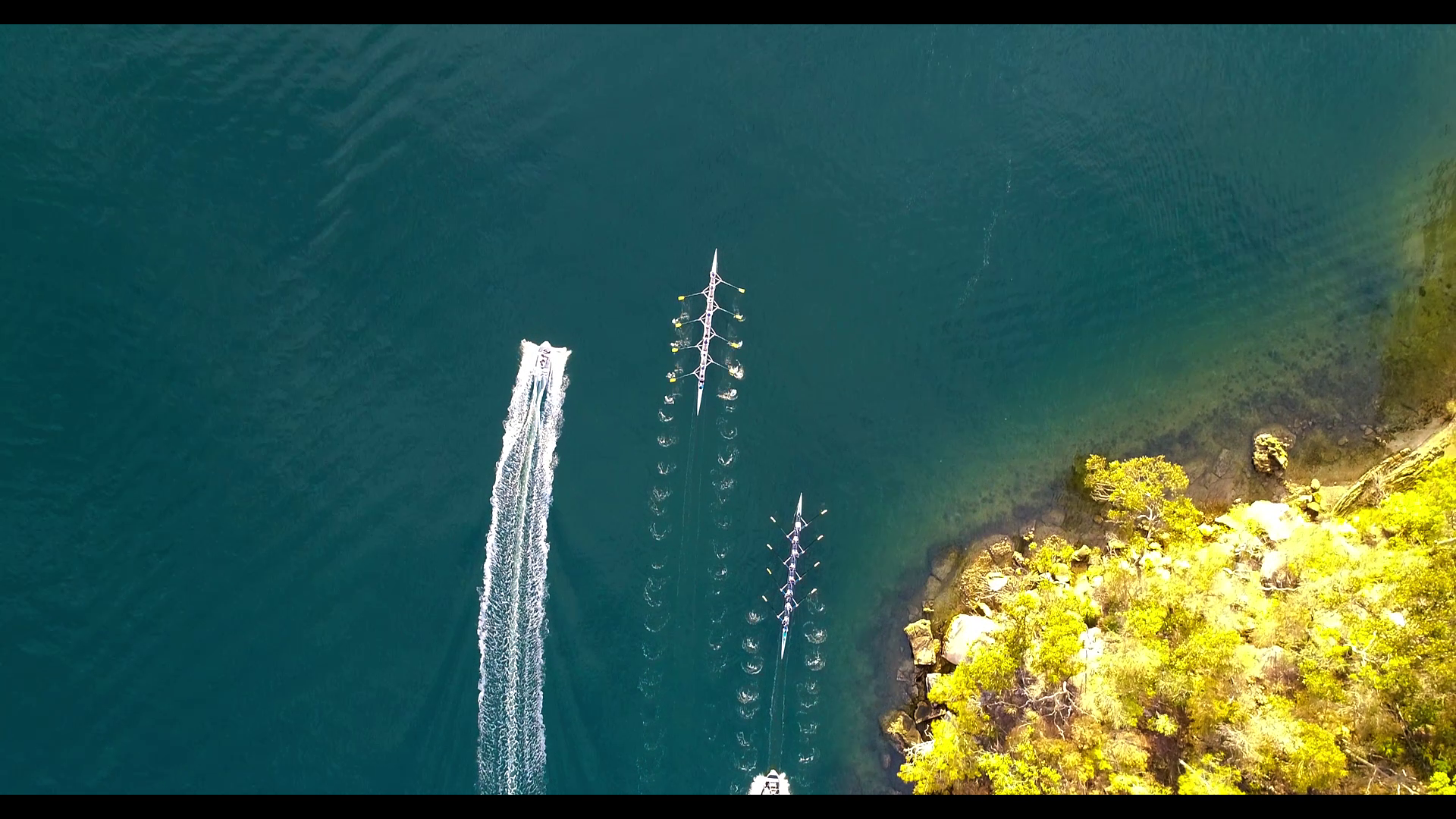 ROWING AERIAL PHOTO
