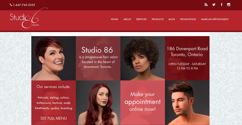 Studio 86 Salon ,Website