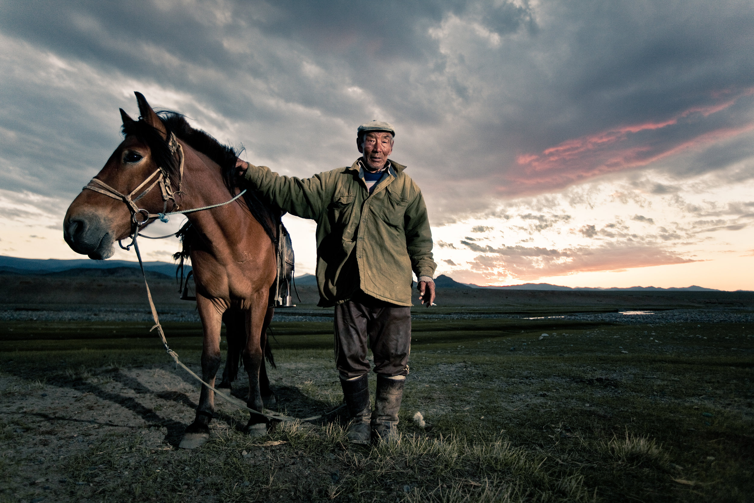 Daidaa, one of the few remaining shepherds in the country [Khovd Province, Mongolia}
