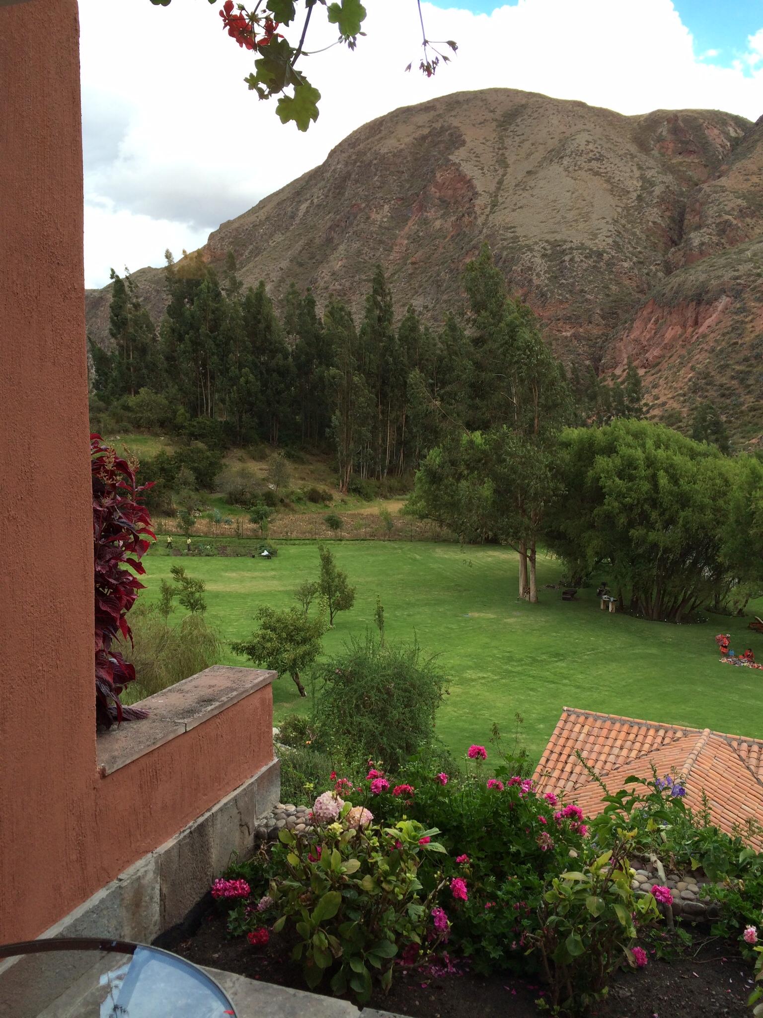 Room with a view. Rio Sagrado, Sacred Valley.