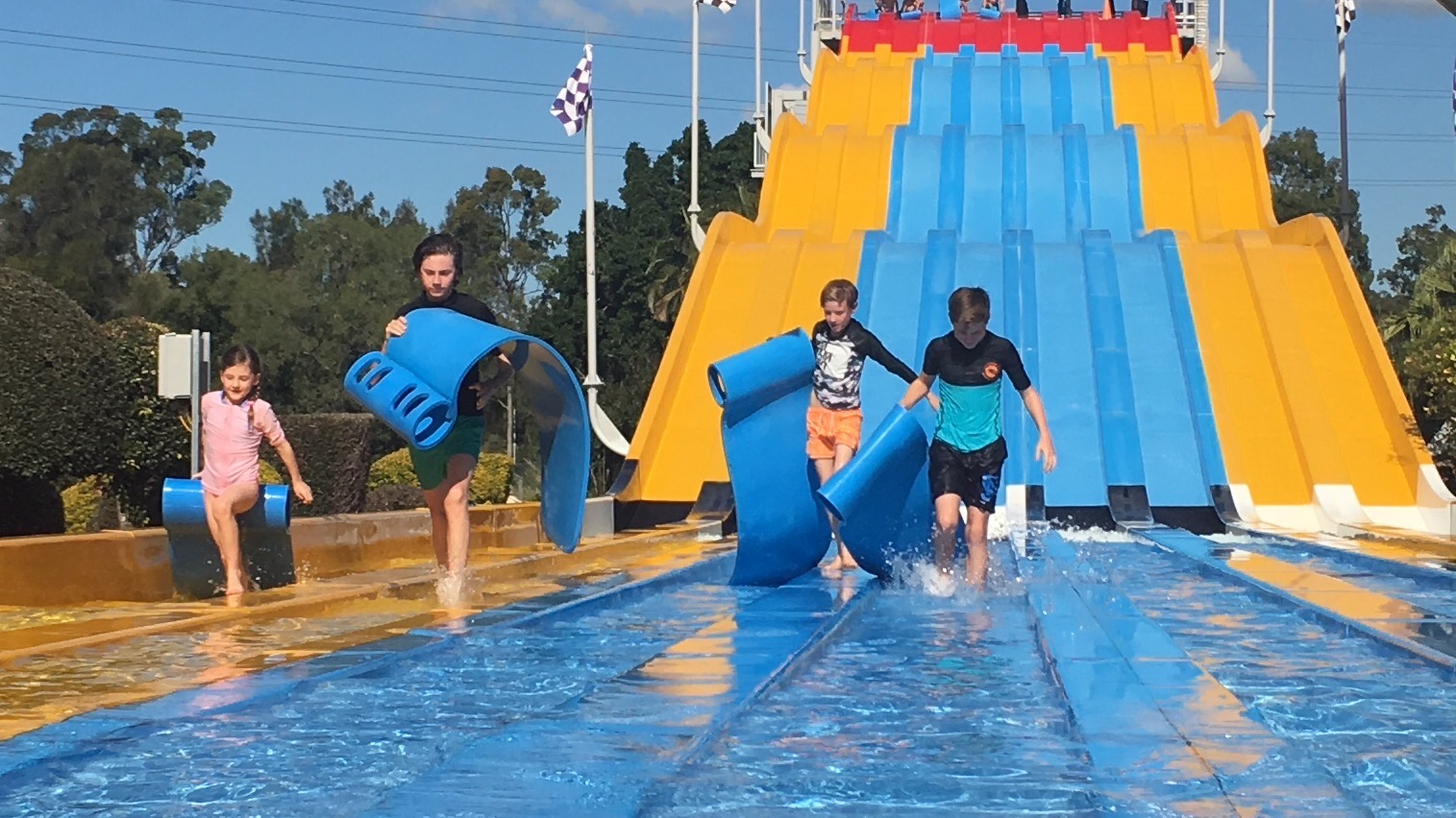 One of their favourite water slides at Wet 'n 'Wild