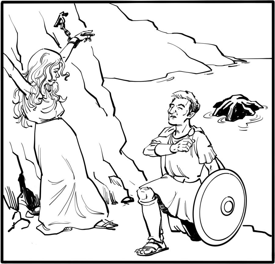 Perseus introduces himself.