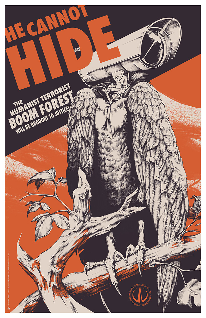 Boom Forest - Humanist Terrorist Poster