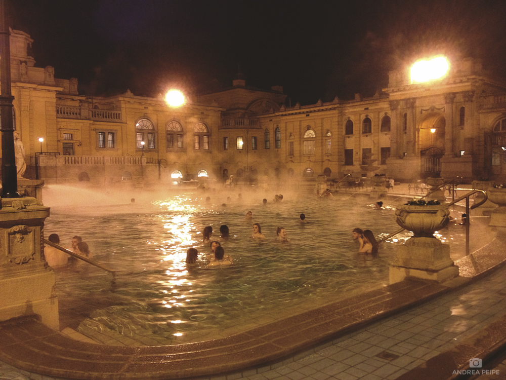 Szechenyi Baths - taken with my iPhone