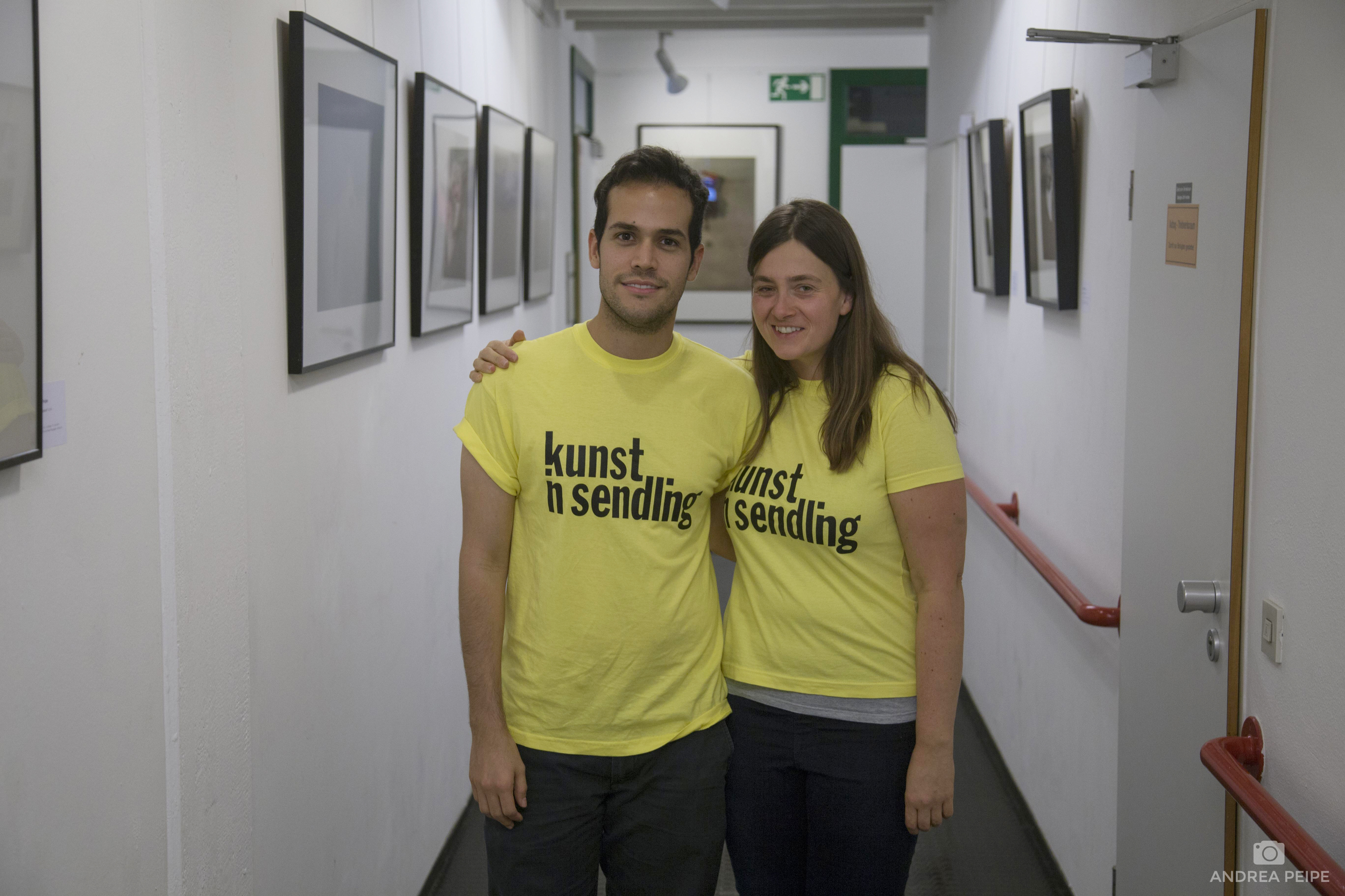 My big help and current intern Andreas Sichel and me at the exhibition