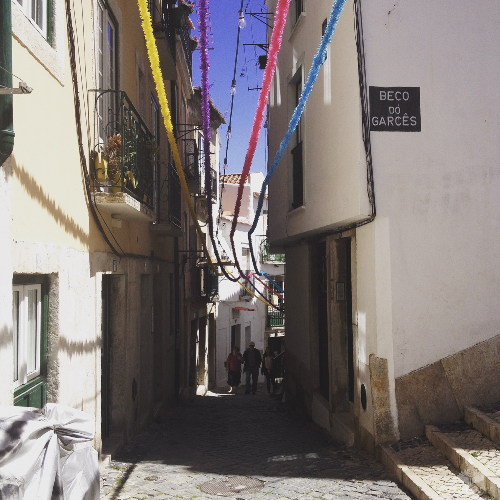 Preparation in Alfama for the feast of St. Anthony days